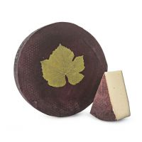 Ubriaco cheese with red wine