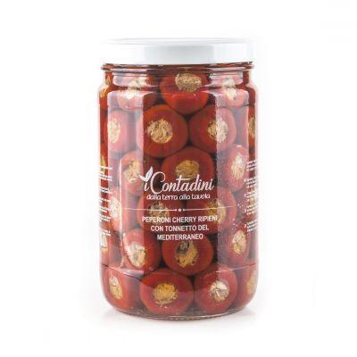 Peperoni Cherry ripieni con Tonnetto del Mediterraneo