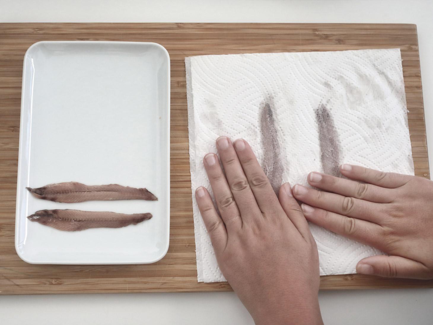 Come pulire e dissalare le acciughe - 5
