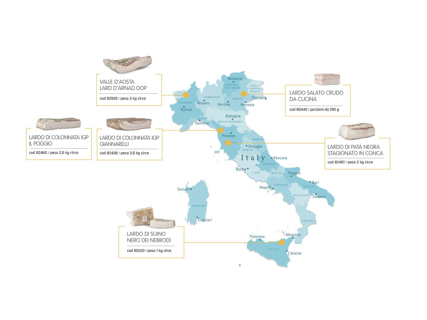 Mappa Italia: Lardo